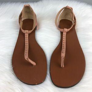 Ann Taylor Loft Studded Flat Sandal Size 8